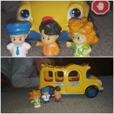 LITTLE PEOPLE school bus and people