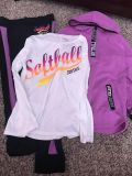 Justice softball outfit size 8