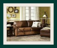 POTTERY BARN Style Stunning 4 Pc Leather sofa set PAID $7127 SELLING