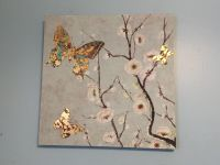 Two 23 1/5 inch Canvas butterfly pictures