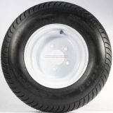 Sell TWO TRAILER TIRE & RIMS 20.5 X 8 X 10 205/65-10 20.5/8-10 20.5/800-10 5LUG WHITE motorcycle in Naples, Florida, US, for US $129.69