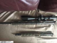 """For Sale: 10.5 5.56 AR Pistol Upper and 20"""" 6.5 Grendel Upper"""
