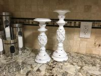 two brand bew solid wood candle holders