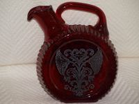 Red Sterling Glass Decanter
