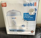 NEW! Wabi Baby Electric Steam Baby Bottle Sterilizer and Dryer Plus