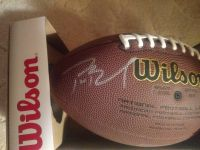 Tom Brady signed official football with certificate