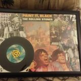 The Rolling Stones 1966 Paint It Black Record Wall Art