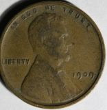 1909 VDB LIncoln Wheat Penny in VG condition