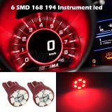 Find 2x Super Red T10 Wedge 6-SMD LED Dashboard Instrument Panel Indicator Light motorcycle in Cupertino, CA, US, for US $6.89