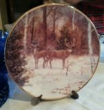 Limited edition of a deer plate