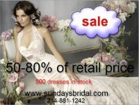 --50-85 off Retail price wedding dress, gown SALE -- from