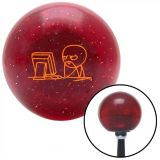 Buy Orange Soon Computer Red Metal Flake Shift Knob with 16mm x 1.5 Insert wrecker motorcycle in Portland, Oregon, United States, for US $29.97