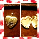 Gold and Silver Heart Pendant