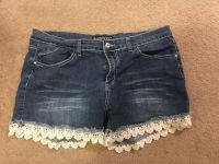 Cute jean shorts. Size 20. Somewhat stretchy