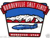 Purchase VTG STYLE BONNEVILLE TRAVEL WATER DECAL RAT HOT ROD RACING SALT FLATS UTAH COACH motorcycle in Sacramento, California, US, for US $9.99