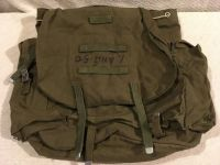 vintage military wwi wwii canvas olive drab paratroopers equipment bag sack pack 02345
