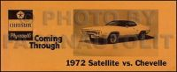 Sell 1972 Plymouth Satellite vs Chevelle Sales Catalog Original OEM Brochure motorcycle in Riverside, California, United States, for US $24.00