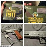 For Sale/Trade: LIMITED EDITION JOHNS WAYNE 1911 GAS BLOWBACK CO2 BB GUN