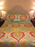 Bedding Set - Full/Queen Duvet Cover, Bedskirt, 2 Standard Size Shams, 2 Accent Pillows (red one is not in pic)
