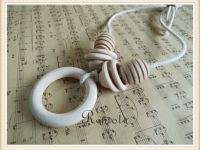 New in Package Organic Wooden Neutral Tone Nursing Teething Necklace $8