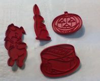 Festive Cookie Cutters, Pig, Rabbit, Pumpkin and Birthday cake