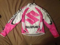 Womens Pink Icon motorcycle jacket