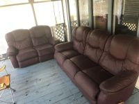 Reclining Sofa & Love as is, love has a few imperfections you load you haul