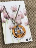Auburn Hand Stamped war Eagle Necklace