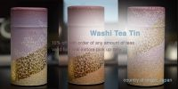 Washi Tea Tin - newly addeed