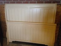 Full size sleigh bed and dresser