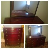 Cherry wood - dresser and Chester drawer.
