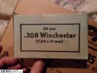 For Sale: 308 WIN, 500 rounds 7.62X 51mm