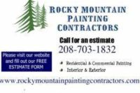 Free Painting Estimates * Click or Call (208)703-1832 *