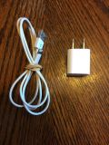 Iphone 5s charging cord and wall port