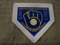 Stunning Milwaukee Brewers Home Plate 1982 American League Champions