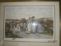 Large signed collectable print from early 1900's