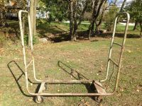 FIREWOOD RACK CART DOLLY STEEL STACKER TRANSPORTER