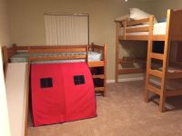 Twin size bed with tent and slide (No mattress)