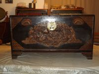 ORIENTIAL CAMPHOR WOODEN CHEST