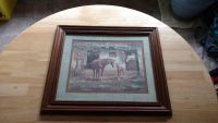 """Beautiful wood framed horse picture measures 17 1/2"""" by 20"""""""