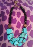 Turquoise Rock necklace
