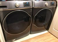Samsung Washer and Gas Dryer with new pedestals