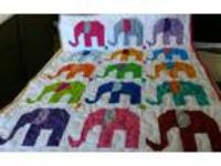 Handcrafted Handmade Boy Girl Pieced Elephant Animal Multi