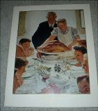 "Norman Rockwell - ""Freedom from Want"" - Vintage Print - No. 11956 - 1990"