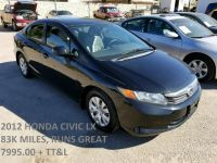 2012 Honda Civic Sdn 4dr Auto LX