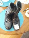 "Military ""BLACK LEATHER"" Combat Boots..VARIOUS SIZES"