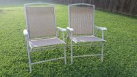 Iron / Tan / 2 Piece Folding Lawn Patio Chair Set