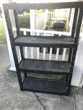 Black utility stand