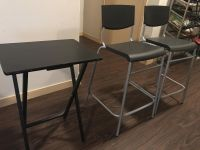 Two high stool and 3 small table on sale!!!!