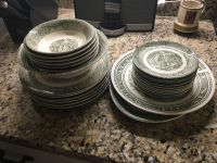 Set of beautiful antique dishes